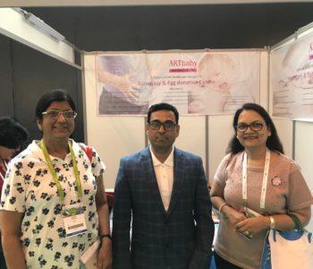 Dr. Sudha prasad (left), IVF specialist, Aims - ARTbaby - Eshre 2018