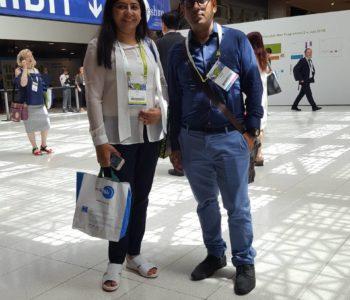 Dr seema bajaj, (IVF) with Ravi Sharma at Eshre 2018