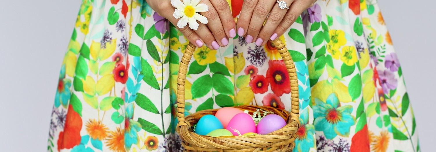 Easter Egg donation basket