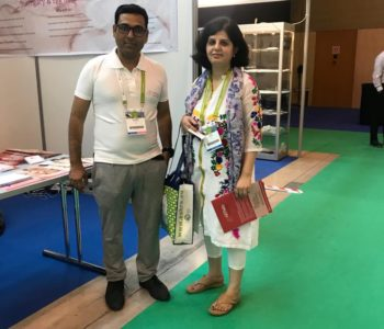 Dr. Richa Sharma with Ravi Sharma - Eshre 2018
