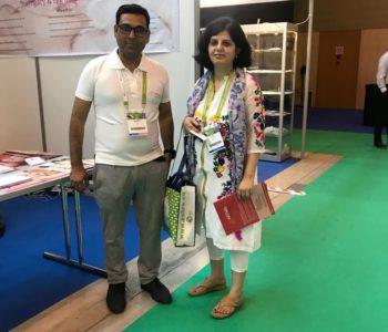 Dr. Richa Sharma with Ravi Sharma - Eshre 2018